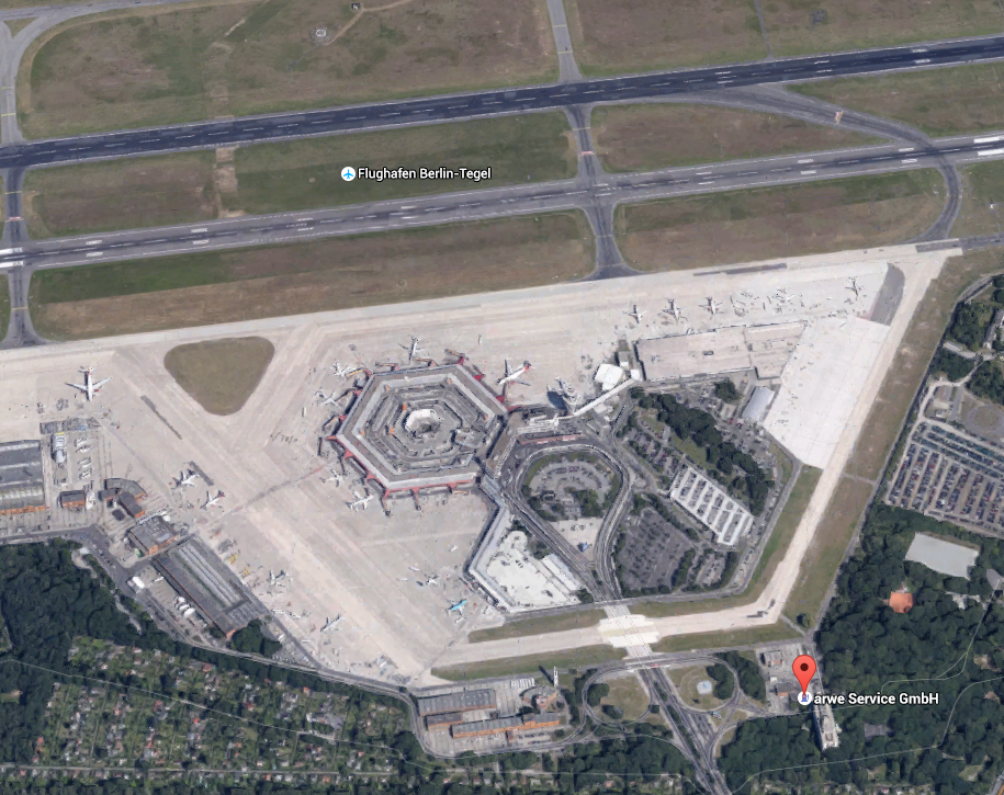 Source: https://www.google.de/maps/place/Flughafen+Berlin-Tegel/@52.5584497,13.2890452,2898m/data=!3m2!1e3!4b1!4m2!3m1!1s0x47a853f955555555:0x64b97d7d67bf2aea
