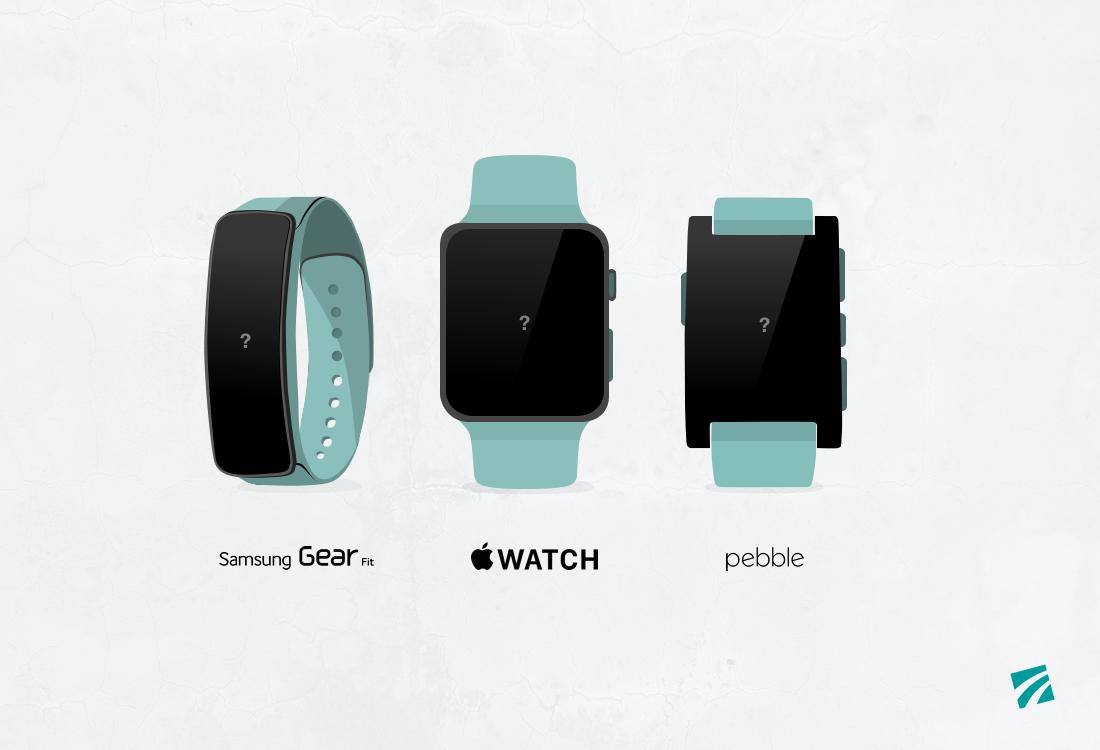 illustrative Darstellung verschiedener digitaler Uhren